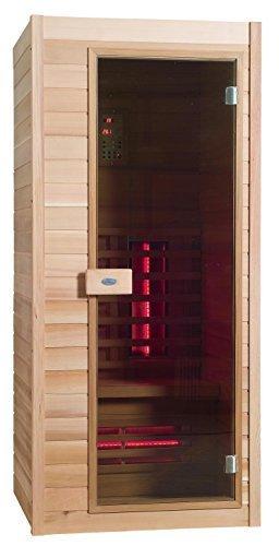 Infrarot Sauna Nobel 90 Hemlock Holz mit Duoflex Strahlern ! - 1