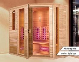 Infrarotkabine | Infrarot | Wärmekabine | Infrarotsauna | Sauna 210 x 140 I Rechts Hemlock Holz, Strahler Art:Dual Strahler - 1