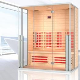 """Infrarotkabine """"Marbella"""" Infrarot Sauna für bis zu 3 Personen Wärmekabine Infrarotsauna - 1"""