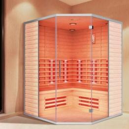 """Infrarotkabine """"Teneriffa"""" Infrarot Sauna für bis zu 3 Personen Wärmekabine Infrarotsauna Eckvariante - 1"""